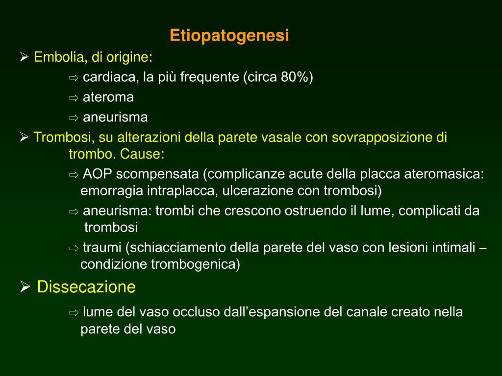 PPT - Ischemia acuta dell'arto superiore PowerPoint..