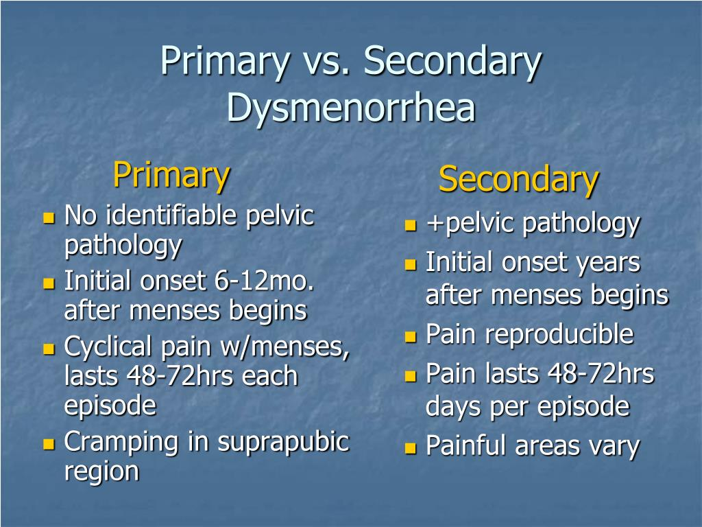 primary dysmenorrhea essay X r wen, the clinical research on primary dysmenorrhea with moxibustion, chengdu university of tcm, 2013 l n bai, a literature mining and randomized controlled trial of moxibustion in treating primary dysmenorrhea, chengdu university of.