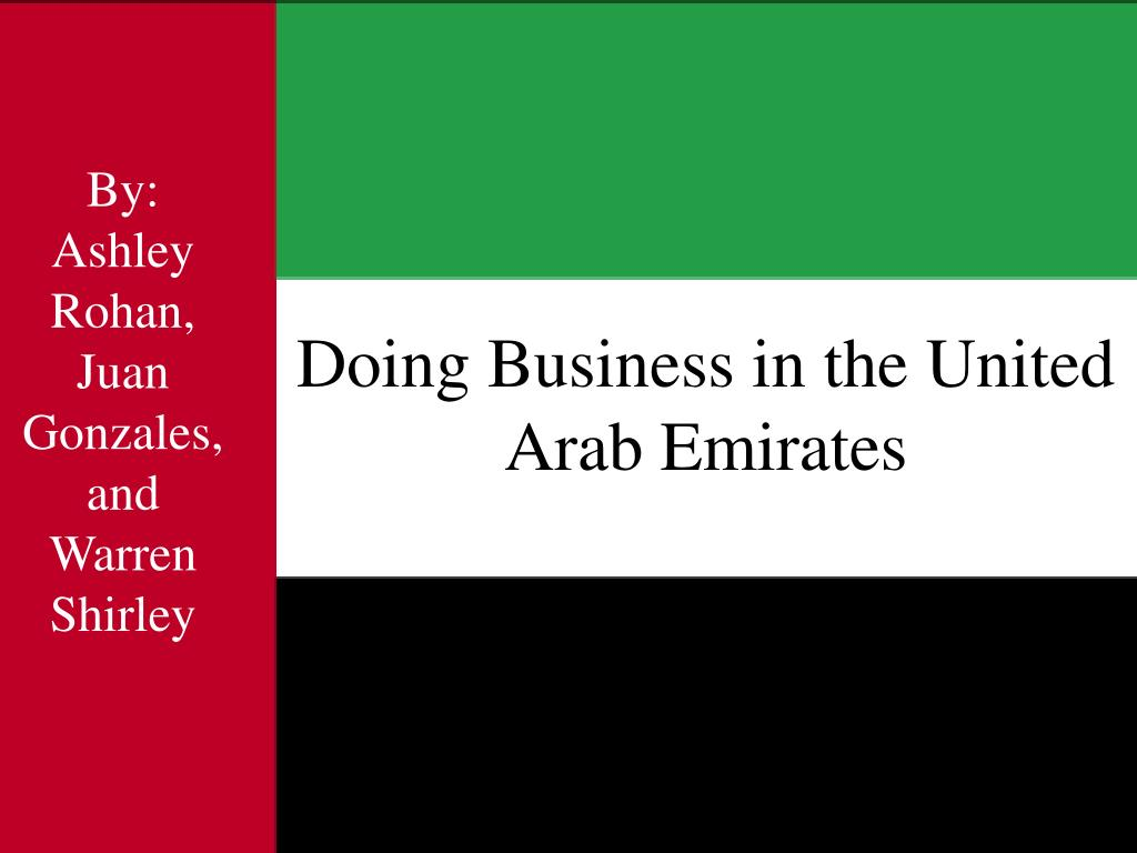 doing business in the united arab emirates l.