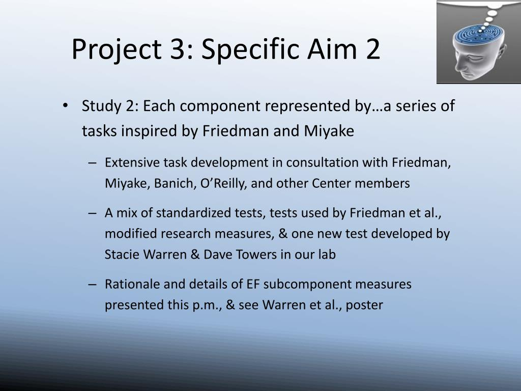 Project 3: Specific Aim 2