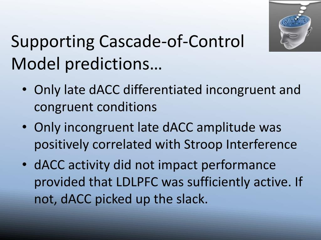 Supporting Cascade-of-Control Model predictions…