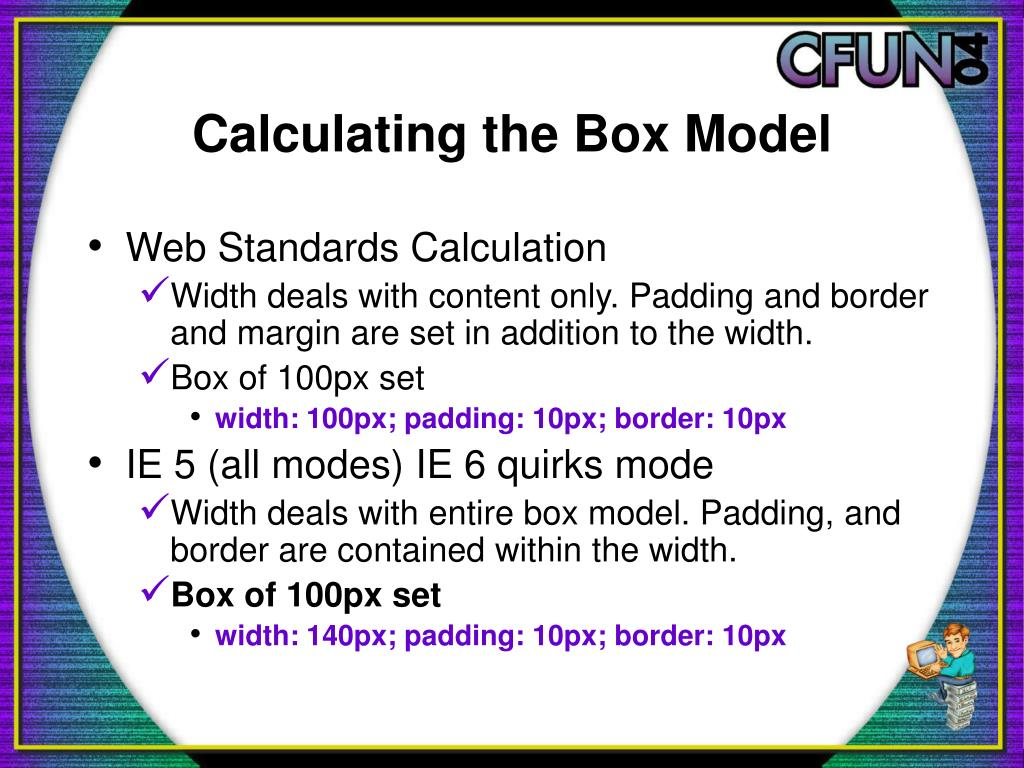 Calculating the Box Model