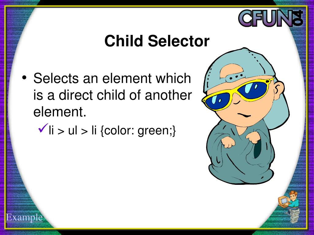 Child Selector