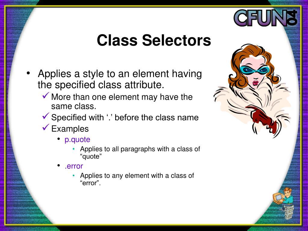Class Selectors