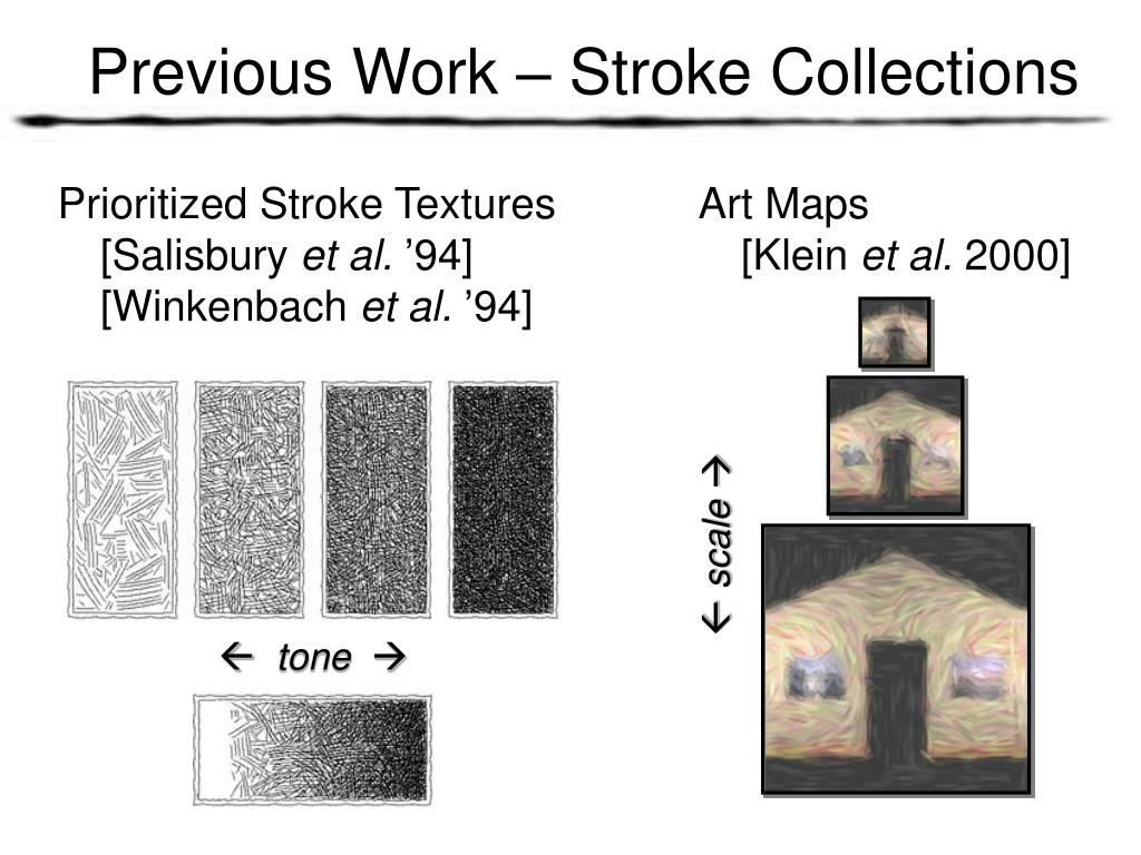 Previous Work – Stroke Collections
