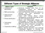 different types of strategic alliances contd