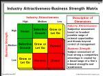 industry attractiveness business strength matrix