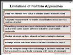 limitations of portfolio approaches
