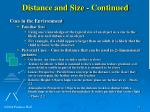 distance and size continued