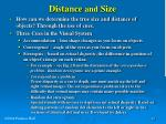 distance and size