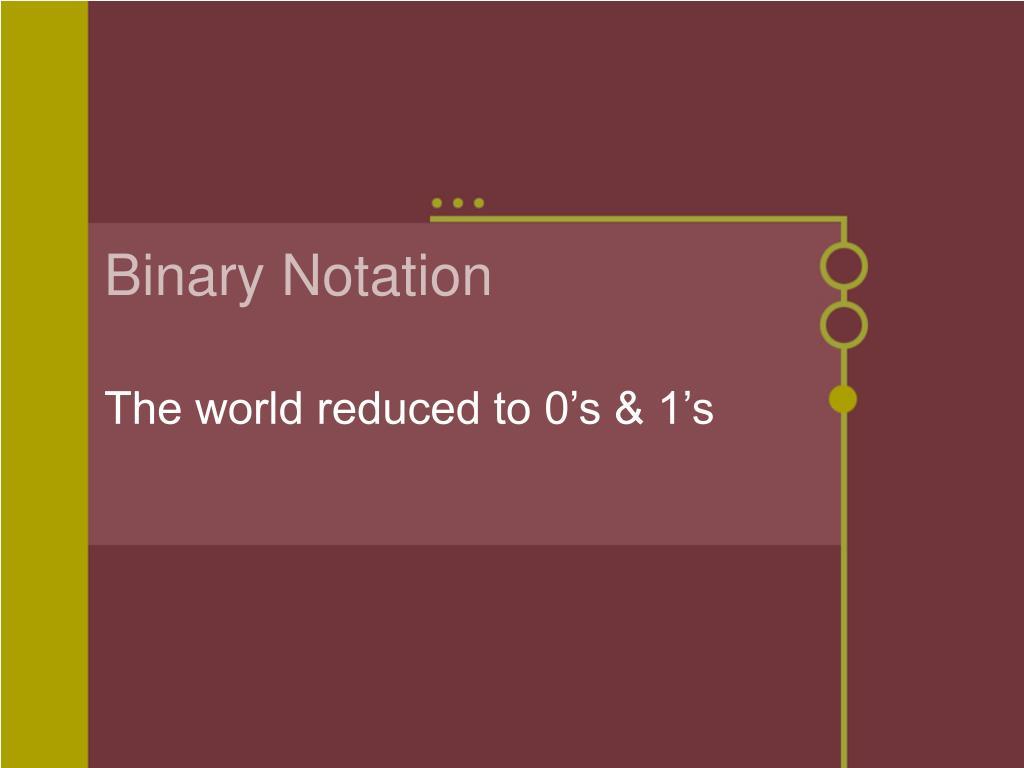 Binary Notation