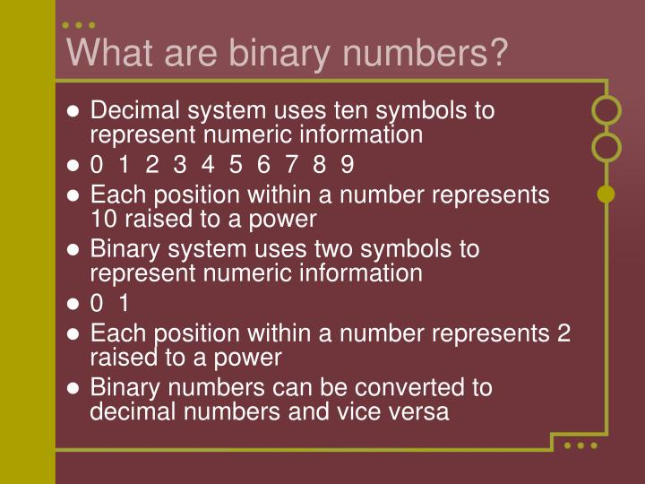 What are binary numbers