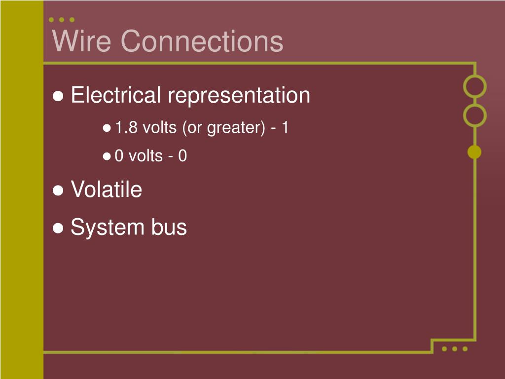 Wire Connections