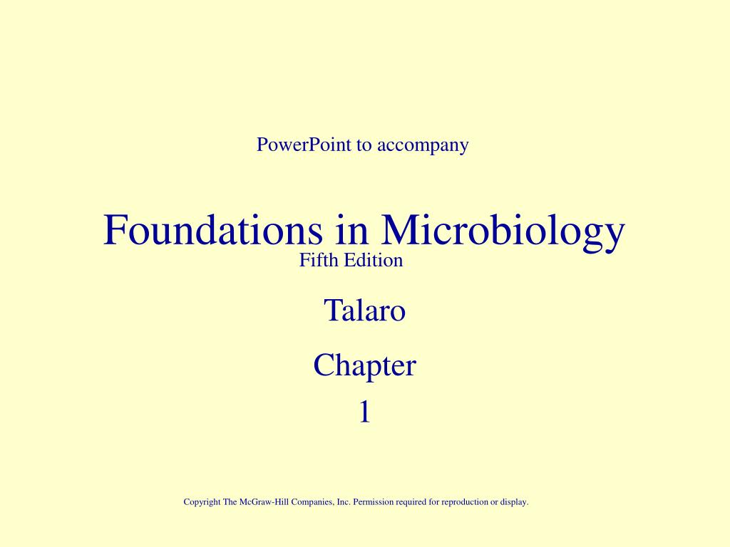 foundations in microbiology l.