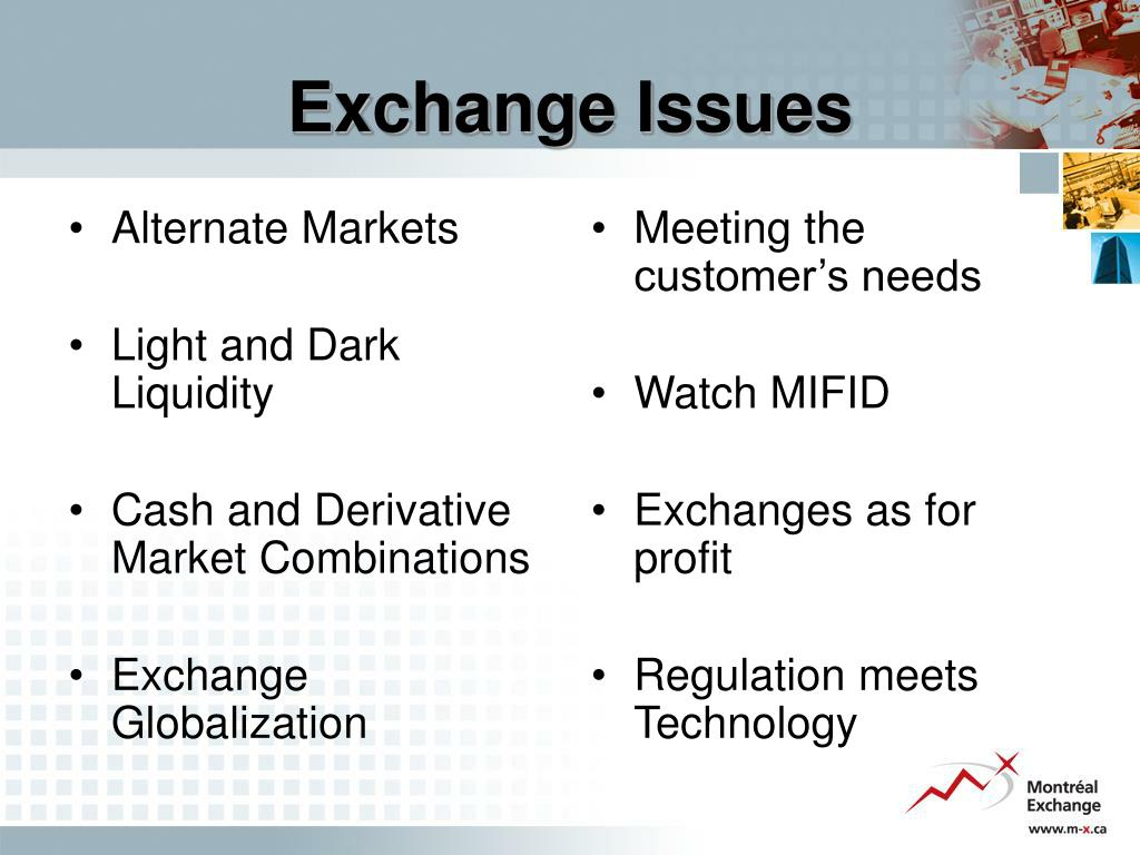 Alternate Markets