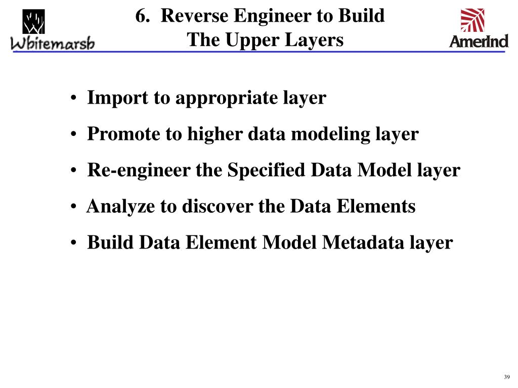 6.  Reverse Engineer to Build