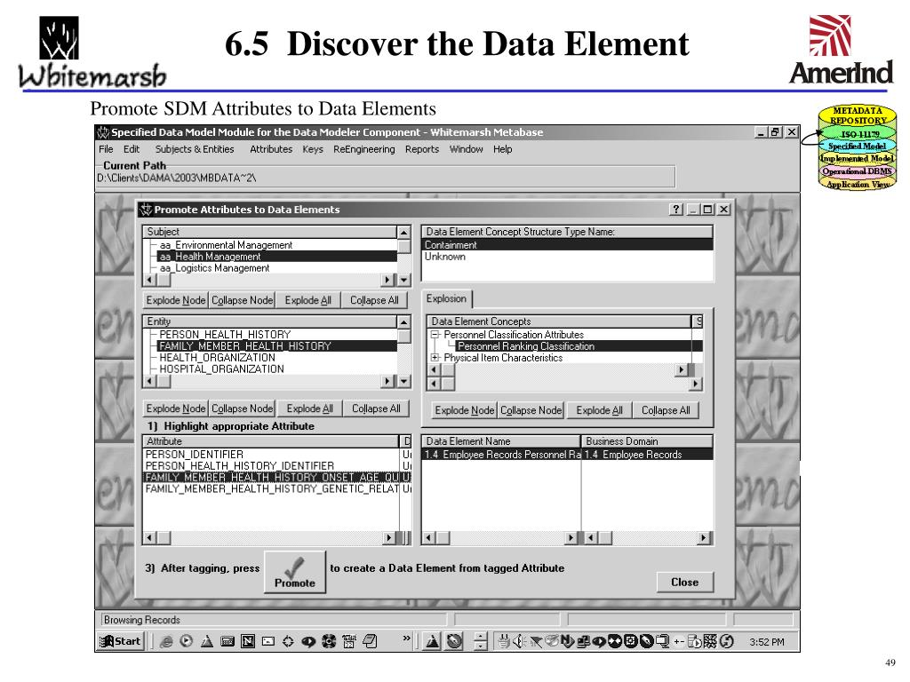 6.5  Discover the Data Element