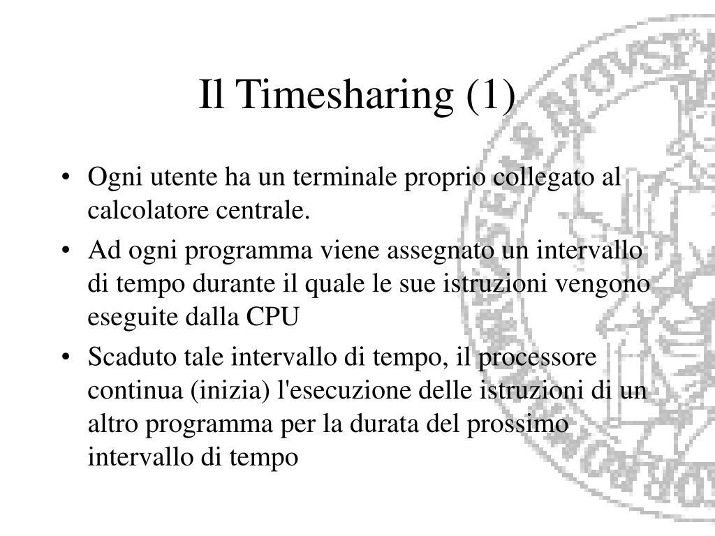 Il Timesharing (1)
