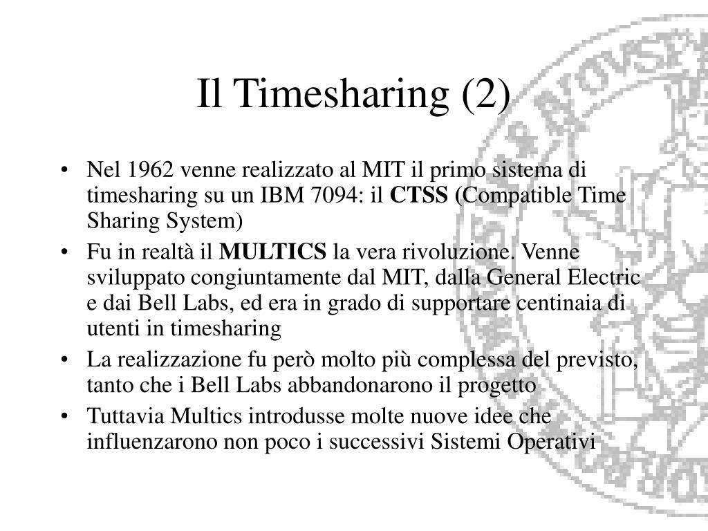 Il Timesharing (2)
