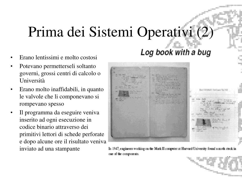 Prima dei Sistemi Operativi (2)