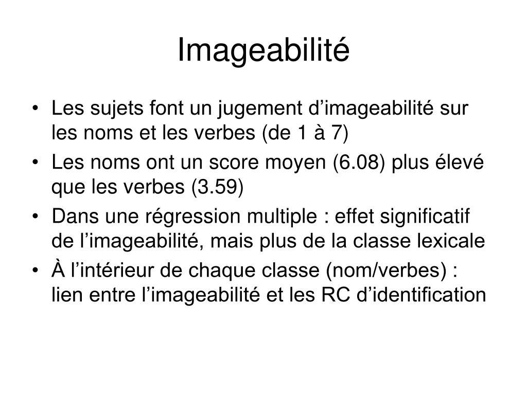Imageabilité