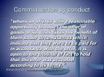 communication by conduct