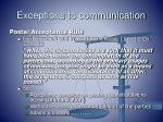 exceptions to communication