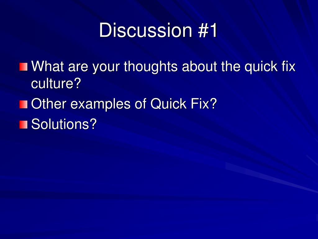 Discussion #1