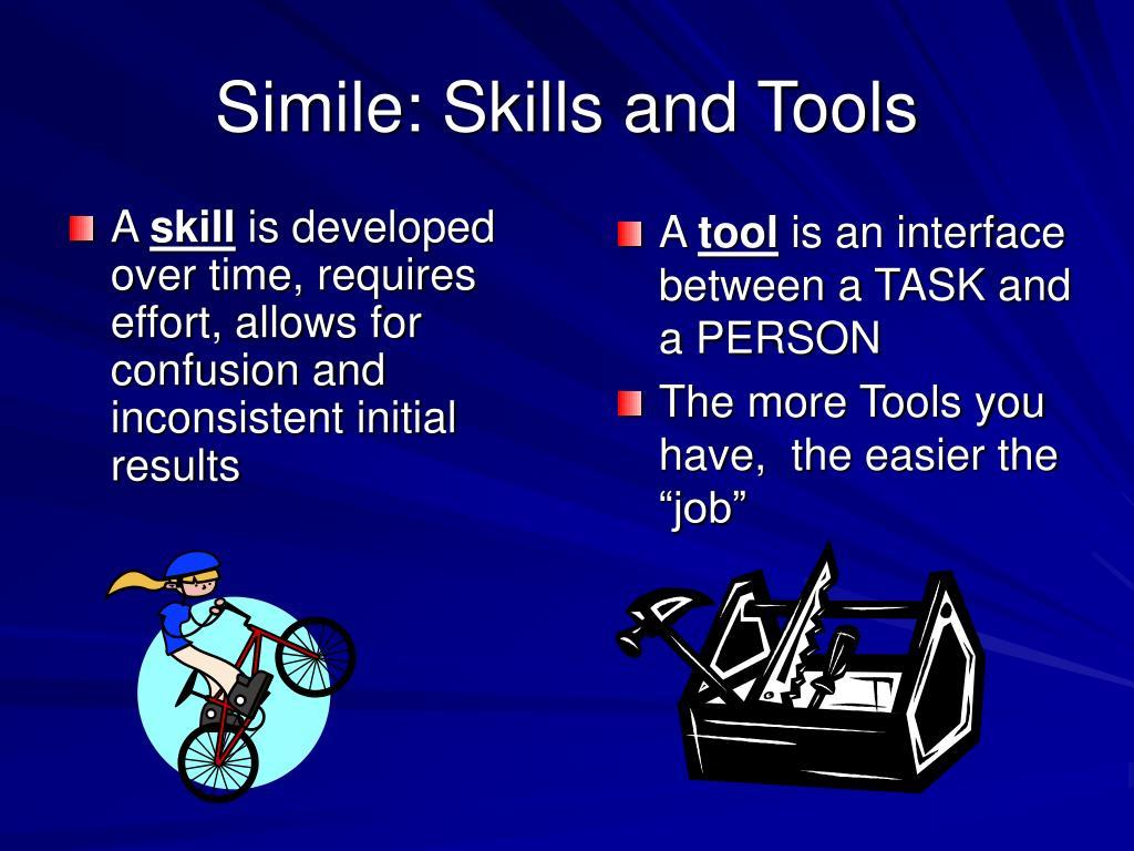 Simile: Skills and Tools