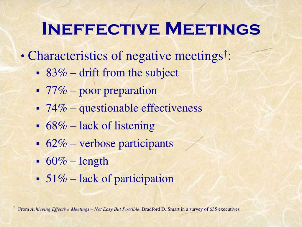 Ineffective Meetings