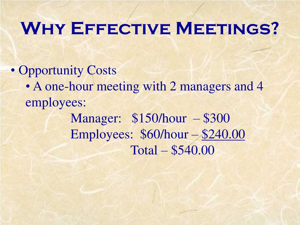 Why Effective Meetings?