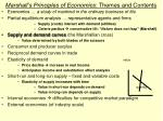 marshall s principles of economics themes and contents