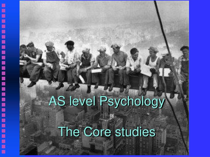 as level psychology the core studies n.