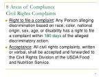8 areas of compliance civil rights complaints