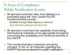8 areas of compliance public notification system