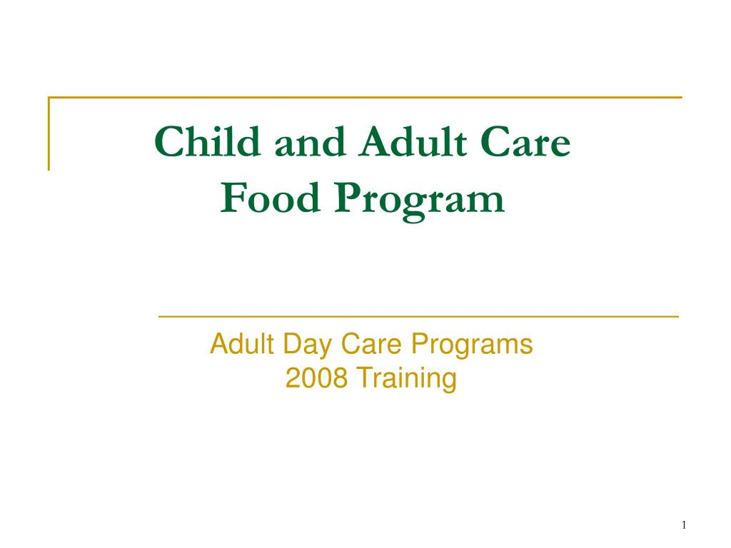 child and adult care food program l.