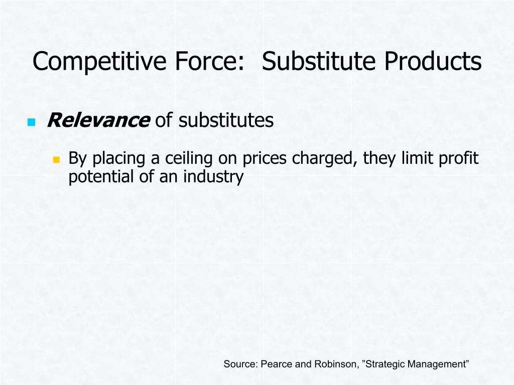 Competitive Force:  Substitute Products