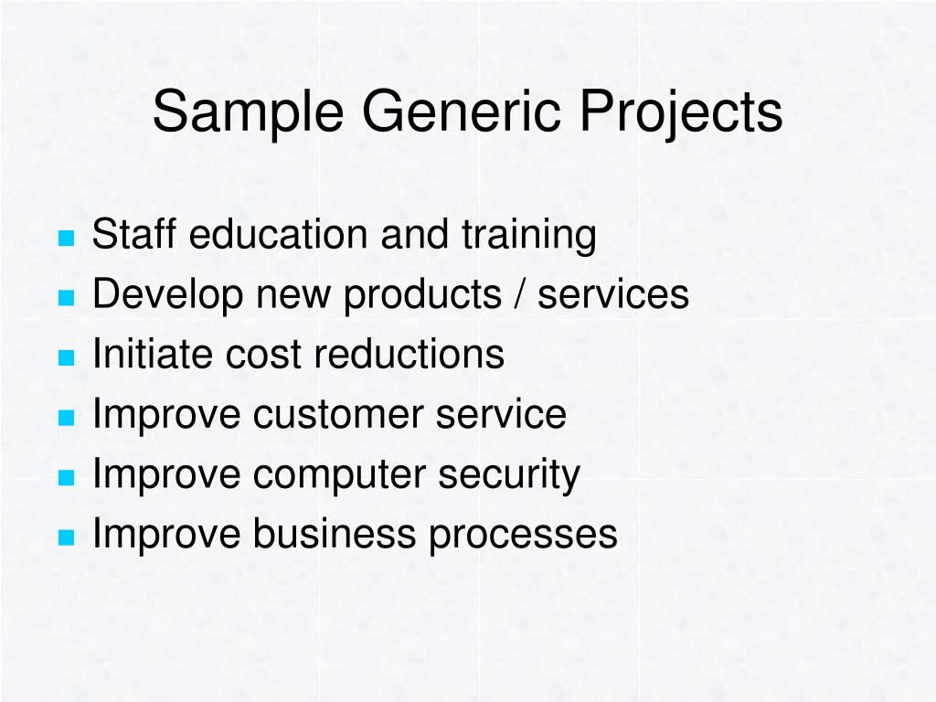 Sample Generic Projects