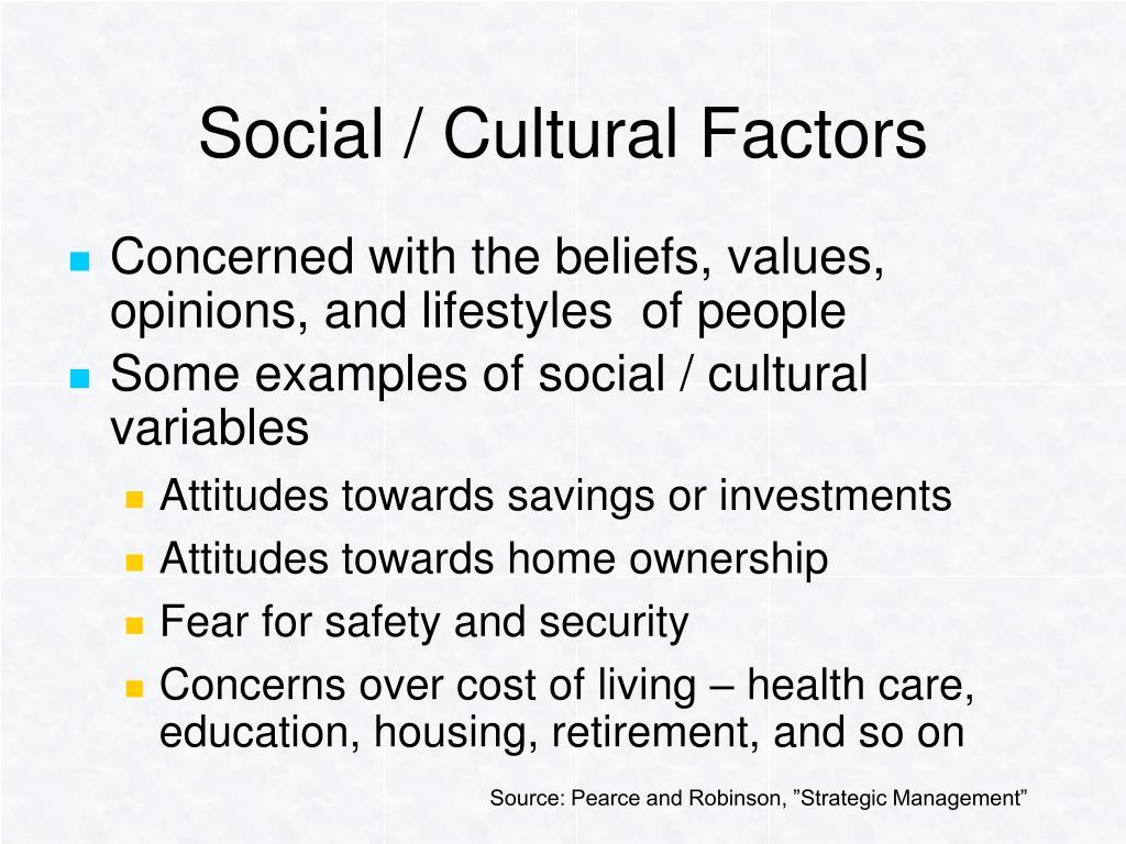 Social / Cultural Factors