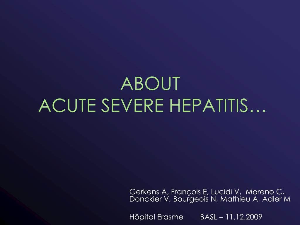 about acute severe hepatitis l.