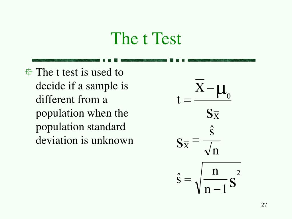 The t Test
