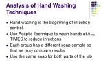 analysis of hand washing techniques