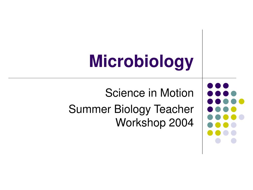 microbiology l.