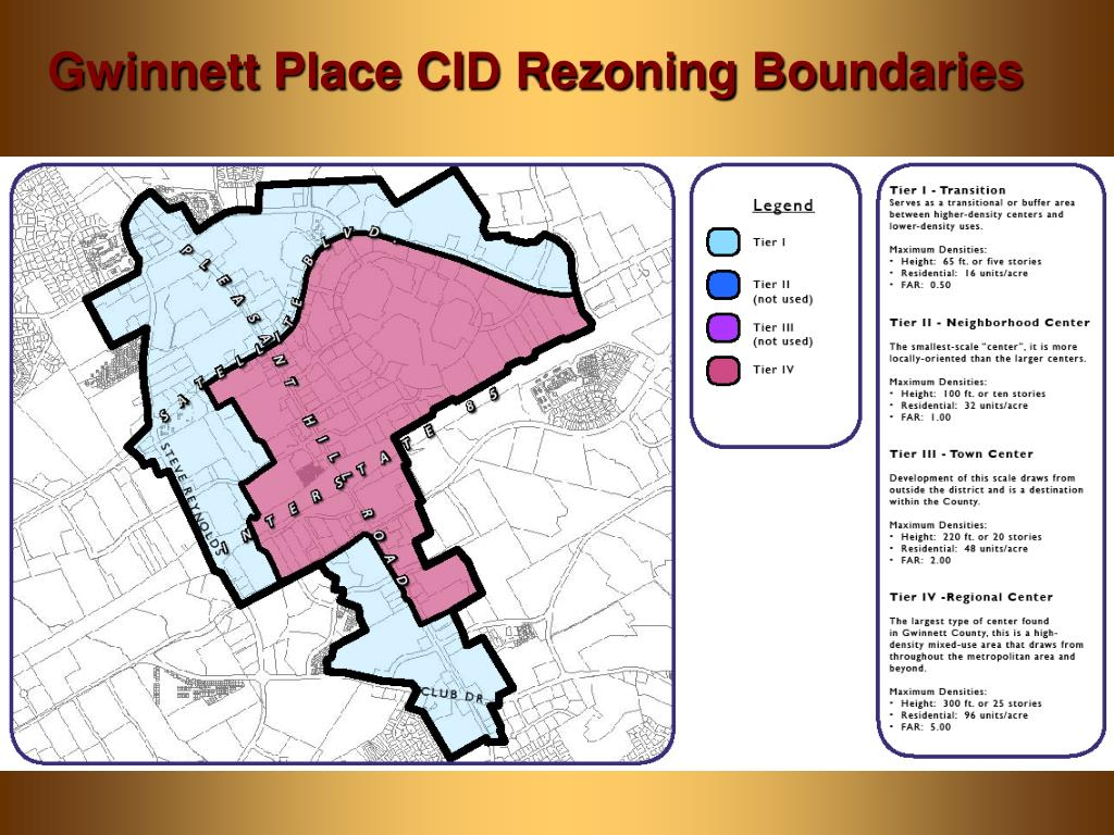 Gwinnett Place CID Rezoning Boundaries
