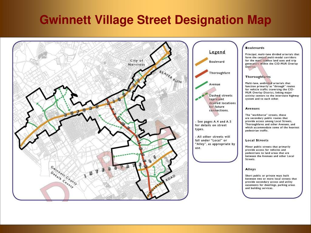 Street Designation Map for GVCID