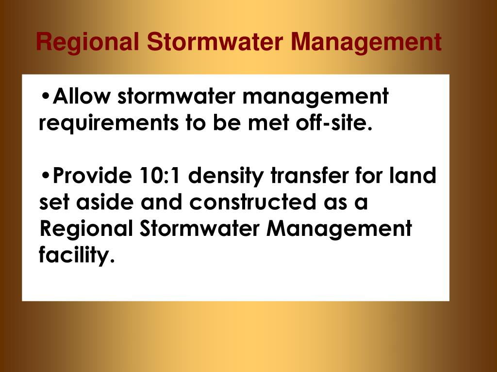Regional Stormwater Management