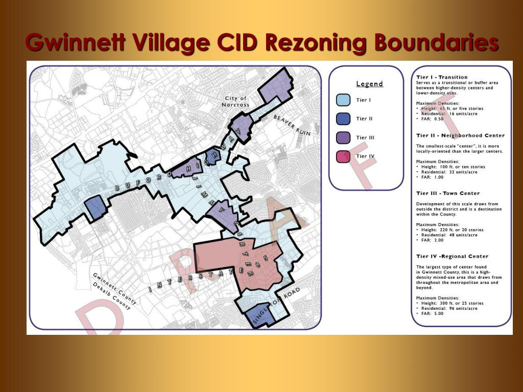 Gwinnett Village CID Rezoning Boundaries