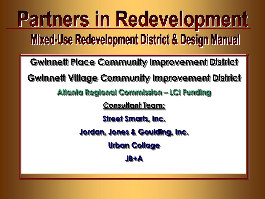 Partners in Redevelopment