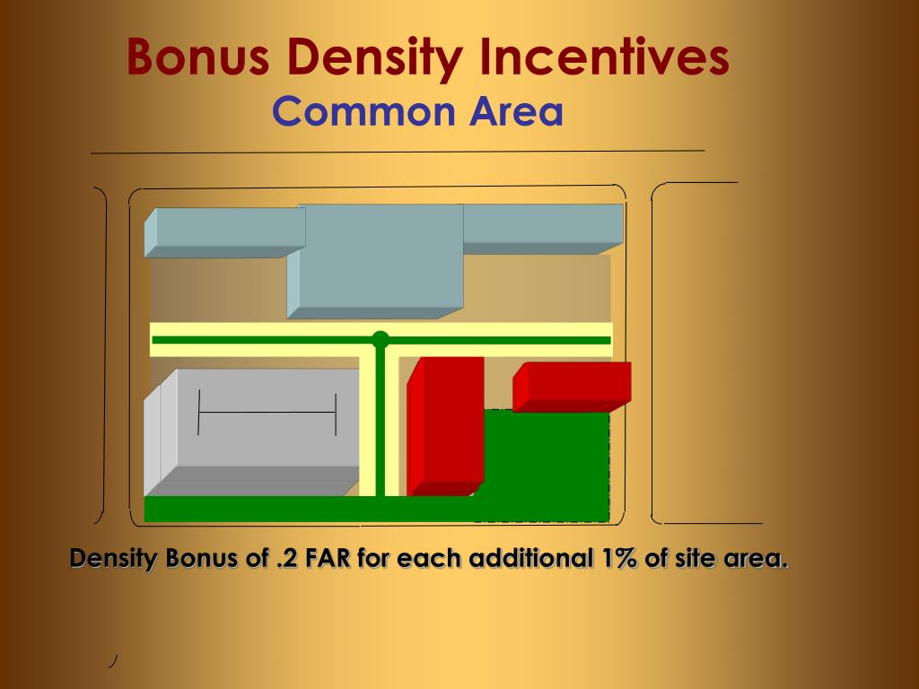 Bonus Density Incentives