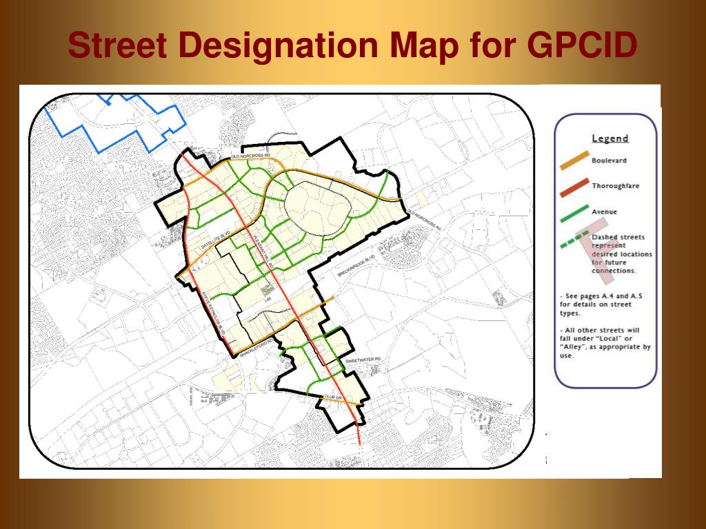 Street Designation Map for GPCID